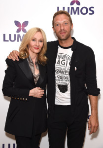 Chris Martin attends the Lumos Fundraiser with J.K. Rowling