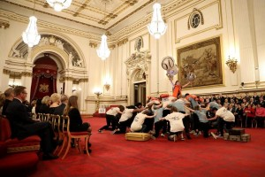NYT students perform in the Ballroom at Buckingham Palace
